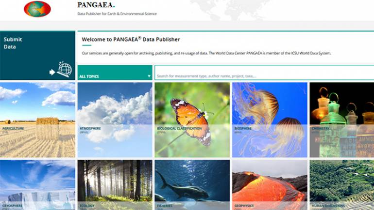 Follow us on PANGAEA